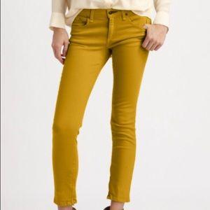 Rag and Bone The Zipper Capri Jeans in Mustard 29